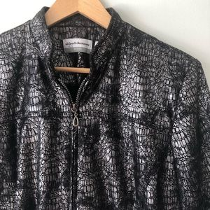"""[Alfred Dunner]  Reptile Print """"Park Place"""" Blazer"""